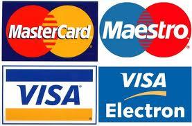 Visa, Master Card, Maestro, Cirrus